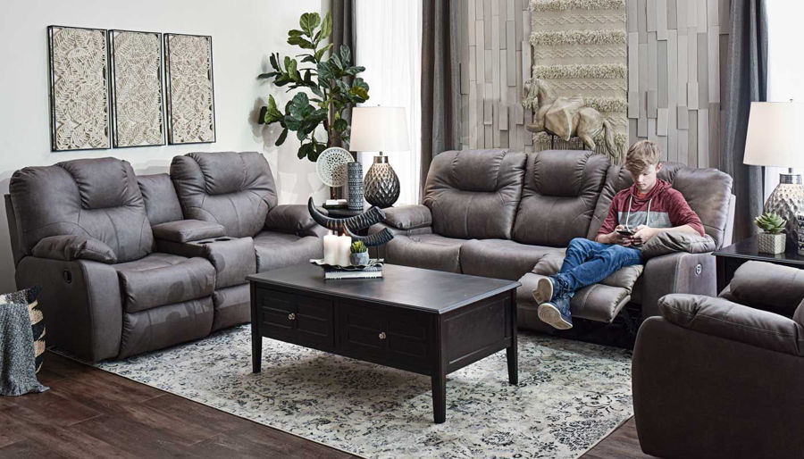 Picture of Avalon Grey Motion Sofa & Loveseat
