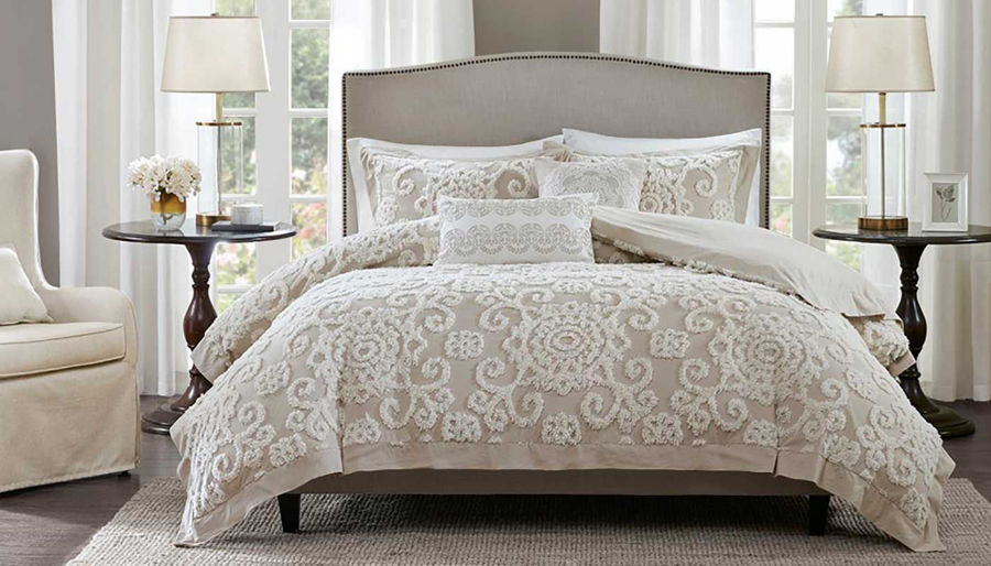 Picture of Suzanna Cotton Taupe Comforter Mini Set