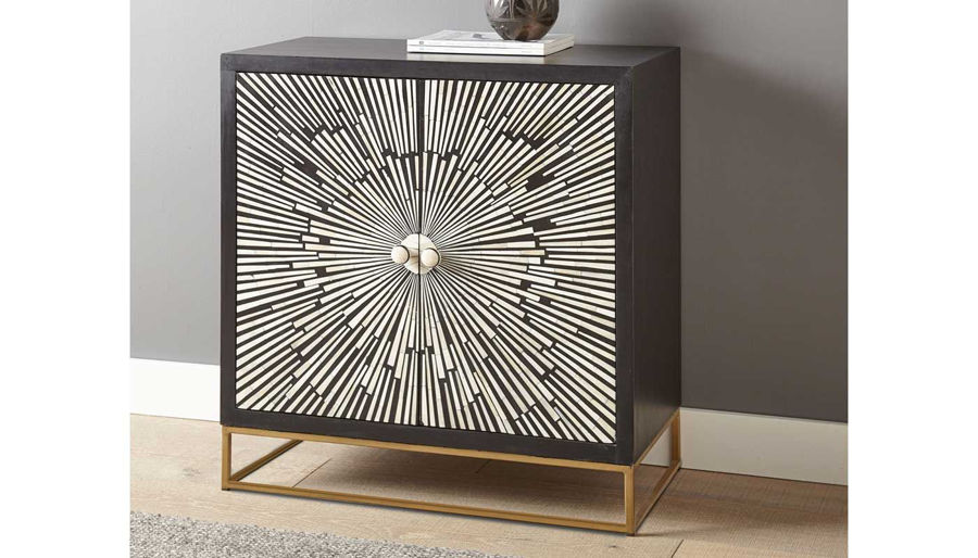 Picture of Amika 2 Door Sunburst Accent Cabinet