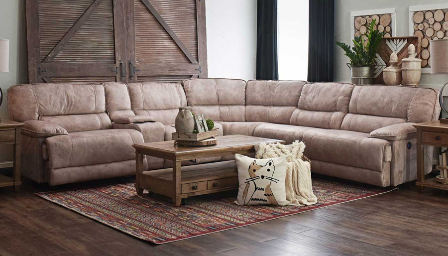 Imagen de Kennedy II Brown Power Sectional