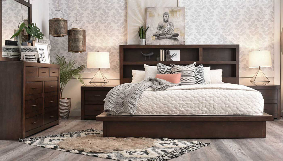 Picture of Telluride 3-Piece Bed, Dresser, Mirror & Nightstand
