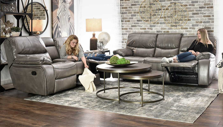 Picture of Avenger Grey Motion Sofa & Recliner