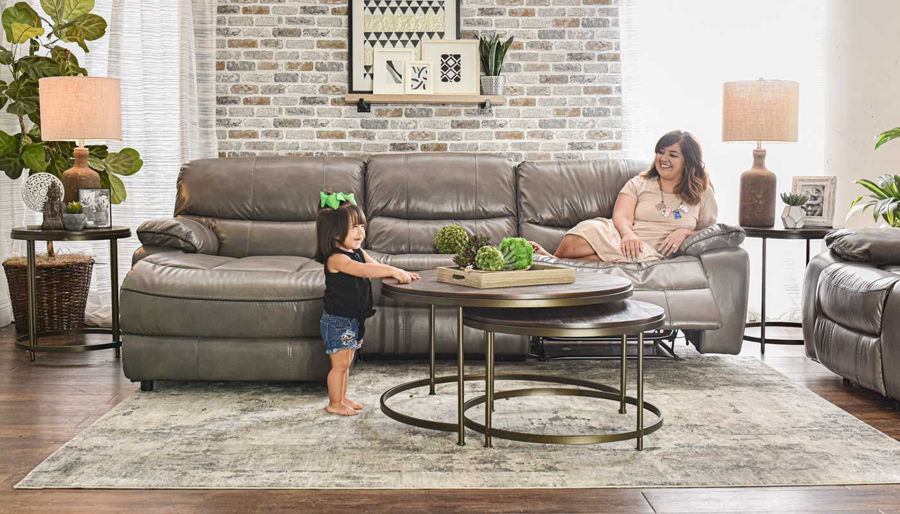 Picture of Avenger Grey 3 Piece Sectional