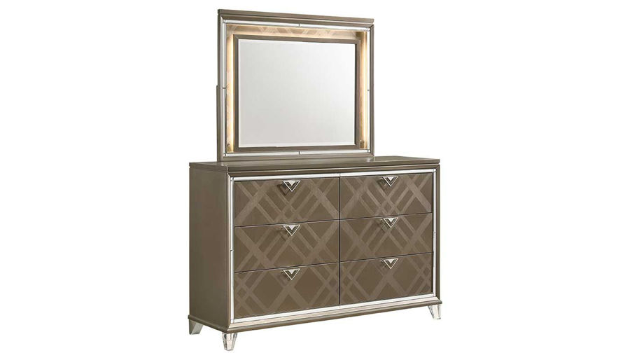 Picture of Kendall Queen Bed, Dresser & Mirror