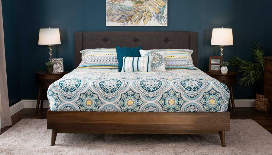 Picture of Allie King Bed, Dresser, Mirror & 2 Nightstands