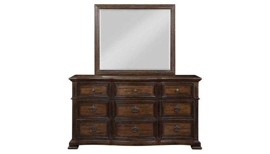 Picture of Briarwood King Bed, Dresser, Mirror, Nightstand & Chest