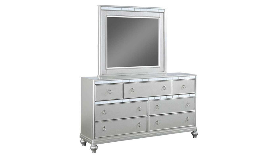 Picture of Glam King Bed, Dresser, Mirror, Nightstand & Chest