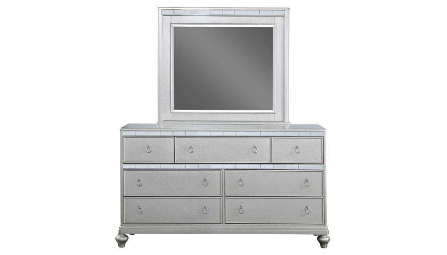 Picture of Glam Queen Bed, Dresser, Mirror, Nightstand & Chest