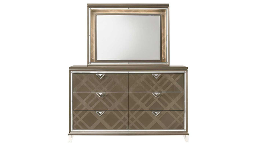 Picture of Kendall King Bed, Dresser, Mirror & 2 Nightstands