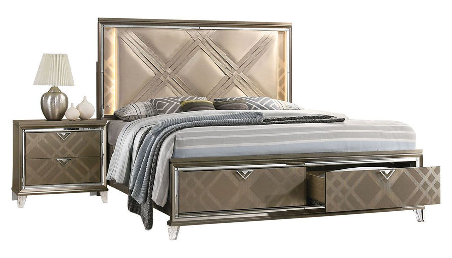 Picture of Kendall King Bed, Dresser, Mirror, Nightstand & Chest