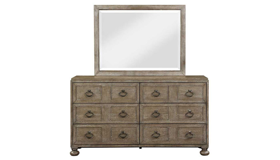 Picture of Malibu King Bed, Dresser, Mirror, Mirrored Nightstand & Chest