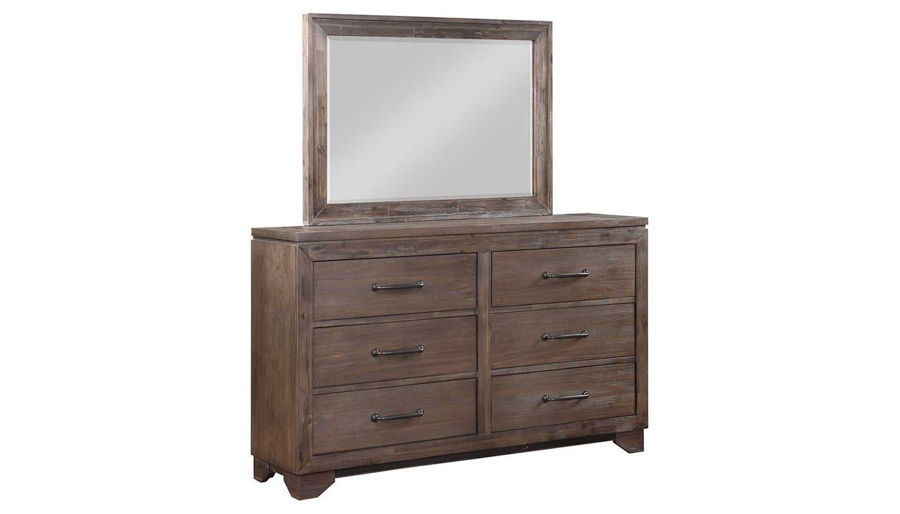 Picture of Natchez Trace King Bed, Dresser, Mirror, Nightstand & Chest