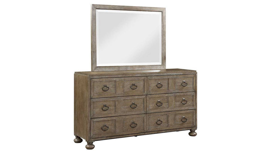 Picture of Riverside King Bed, Dresser, Mirror, Mirrored Nightstand & Chest