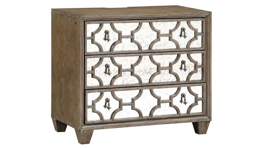 Imagen de Riverside Queen Bed, Dresser, Mirror, Mirrored Nightstand & Chest