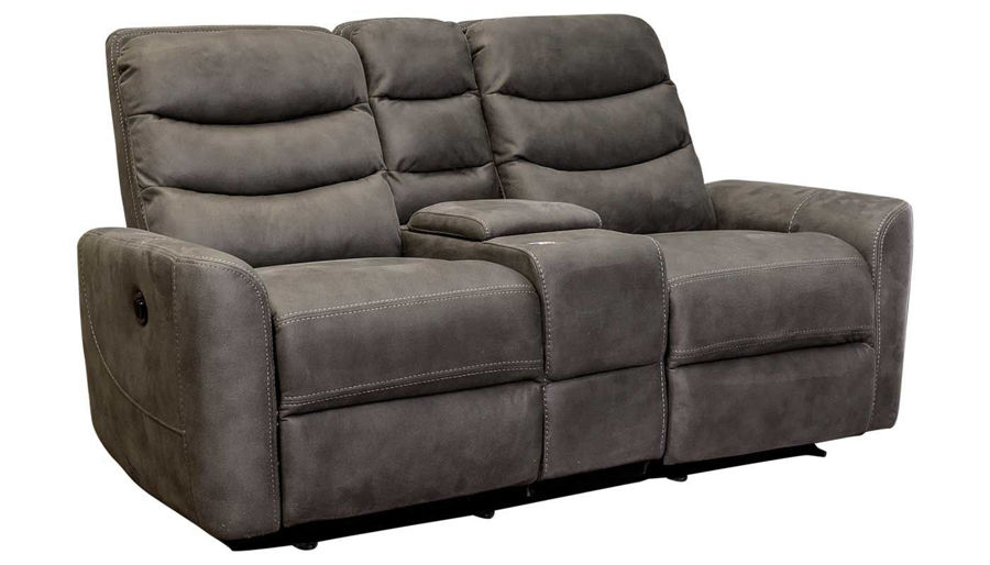 Picture of Forte Grey Sofa, Loveseat & Recliner