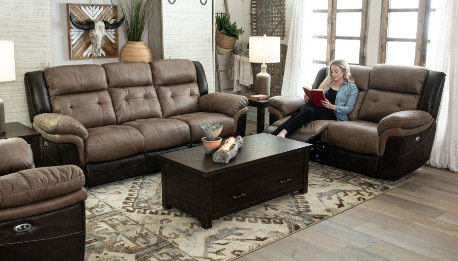 Picture of Steamboat III Motion Sofa & Loveseat