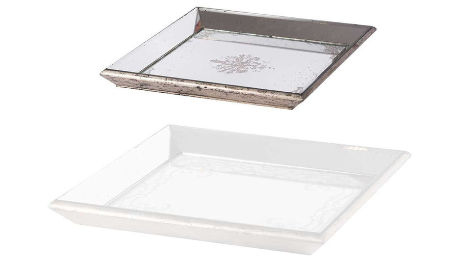Imagen de HZ Violet Mirrored Sq Tray Small