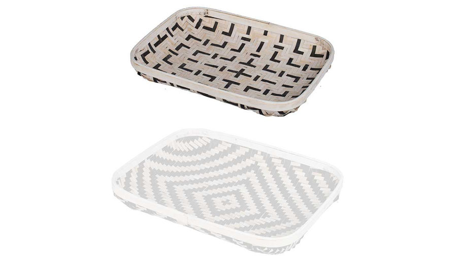 Picture of HZ Org Geo B&W Wash Tray Small