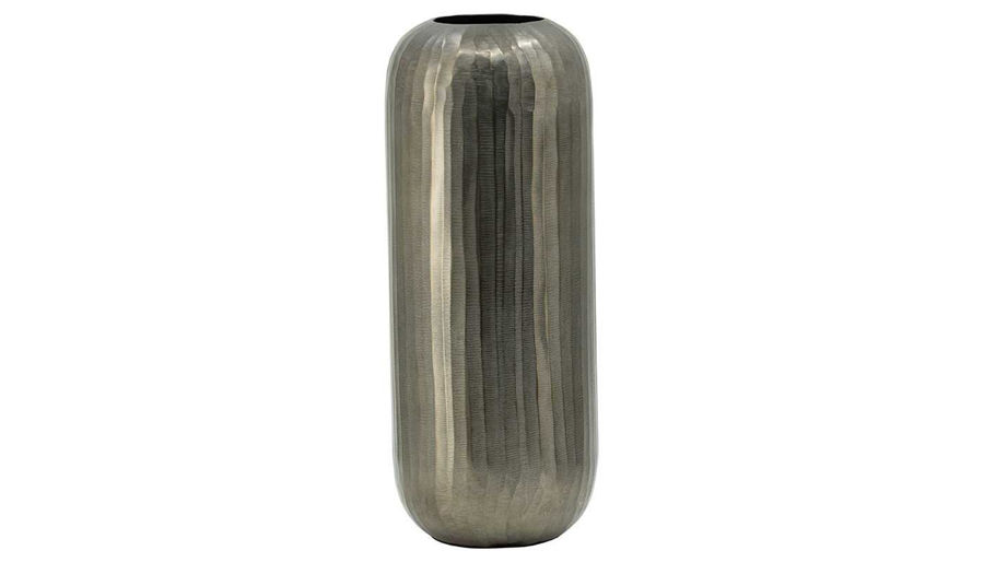Picture of HZ Alum Lyrd Chisel Orb Vase