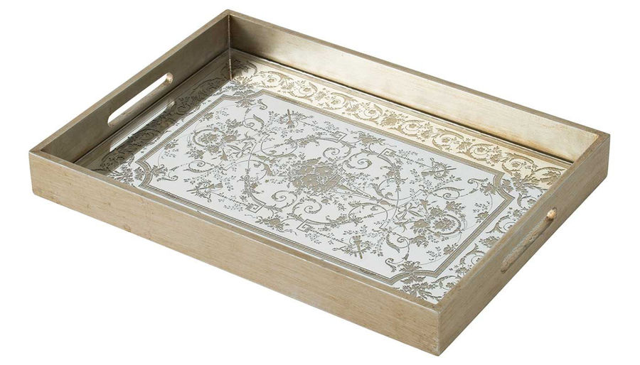 Imagen de HZ Gold Mirrored Dec Tray 18X13
