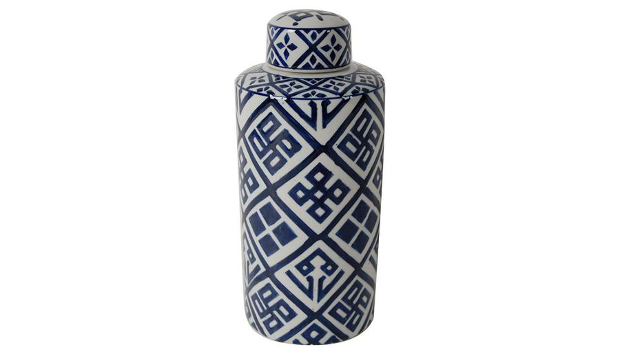 Picture of HZ Valora Blue & White Jar Small