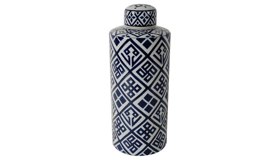 Picture of HZ Valora Blue & White Jar Md