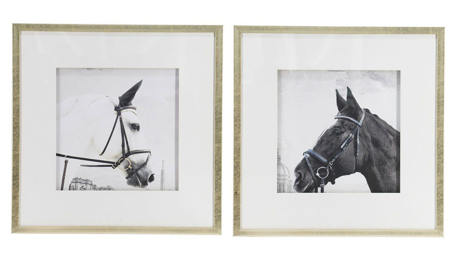 Imagen de HZ Horse Wall Art Set Of 2