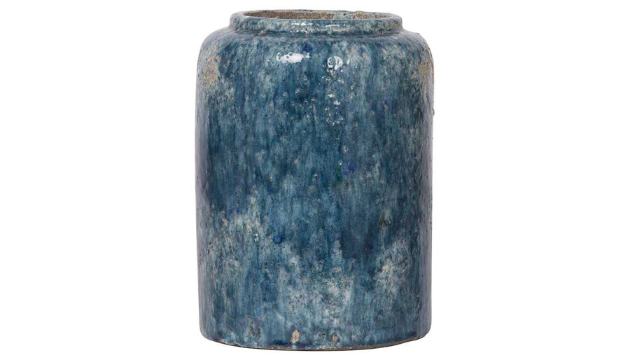 Picture of HZ Blue Firth Round Vase Small