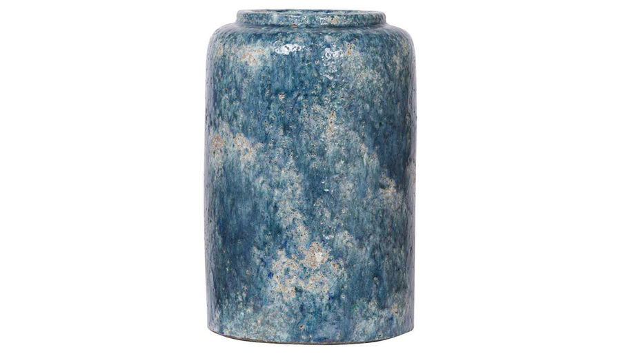 Picture of HZ Blue Firth Round Vase Md
