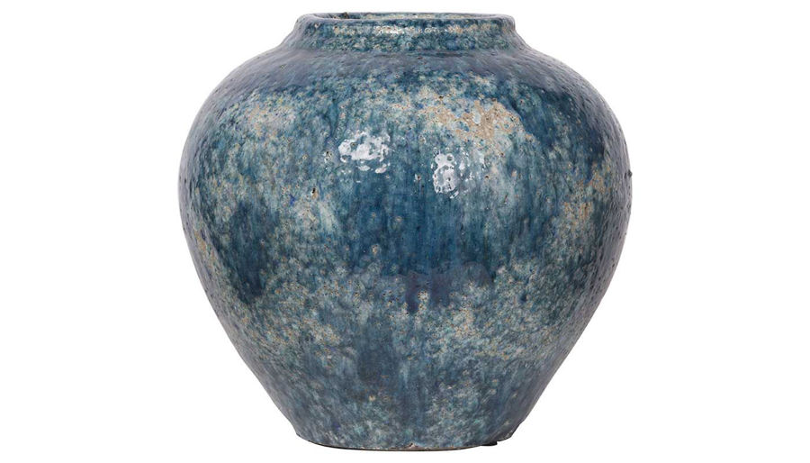 Picture of HZ Blue Firth Round Vase Wide