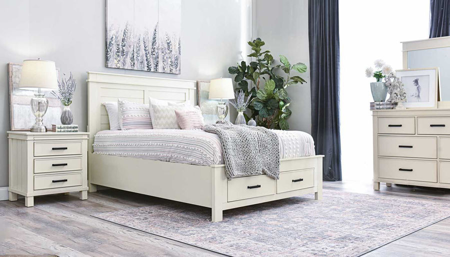 Picture of Hempstead King Bed, Dresser, Mirror & 2 Nightstands