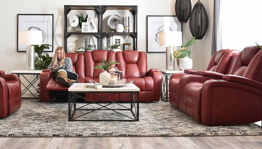 Imagen de Panther Red Power Sofa & Loveseat