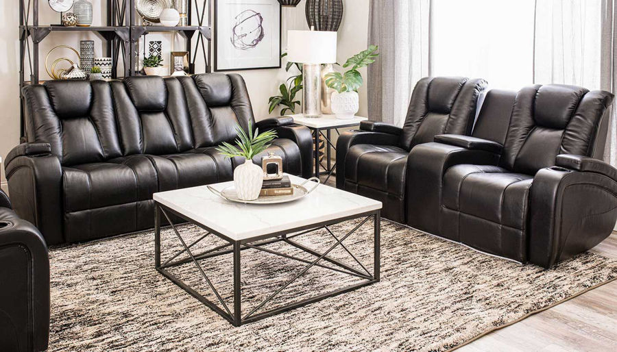 Imagen de Panther Black Power Sofa & Loveseat