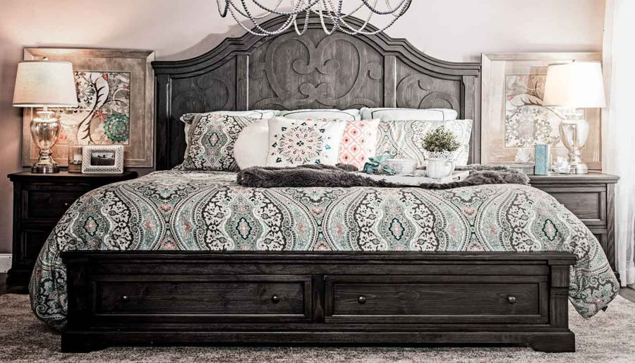 Imagen de Amalfi Queen Bed, Dresser, Mirror & 2 Nightstands