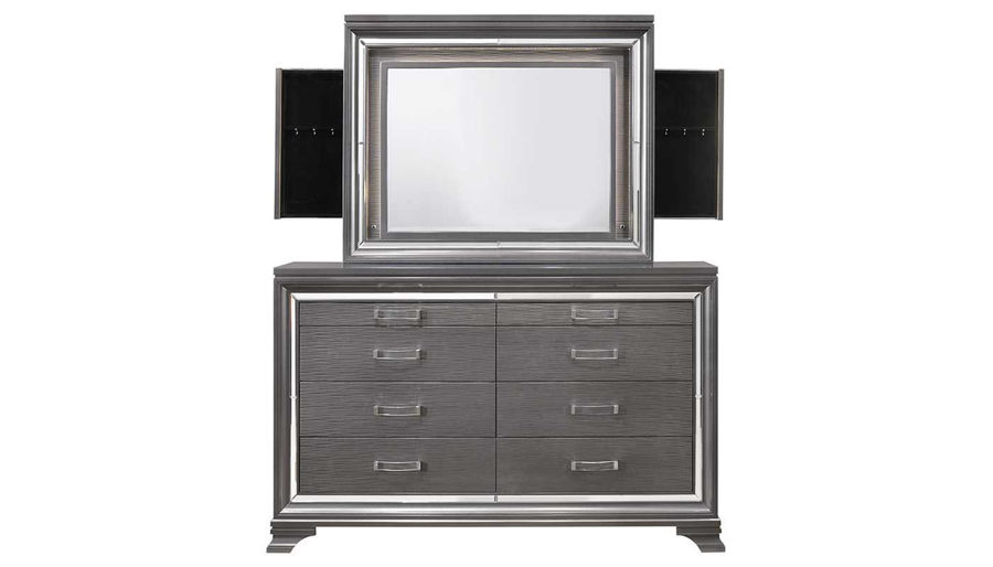Imagen de Monroe King Bed, Dresser, Mirror & 2 Nightstands