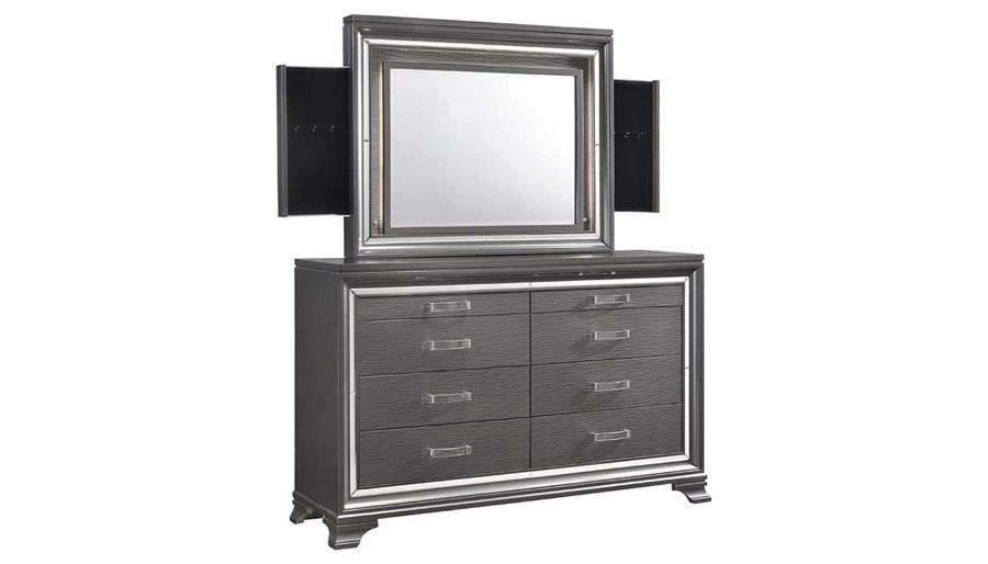Picture of Monroe Queen Bed, Dresser, Mirror & 2 Nightstands