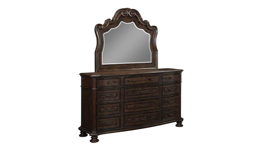 Picture of Serendipity King Bed, Dresser, Mirror & 2 Nightstands