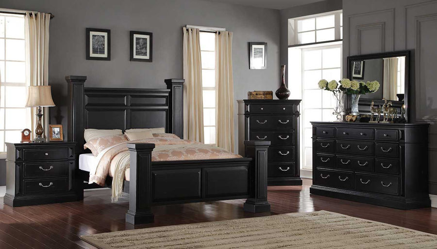 Picture of Tejas King Bed, Dresser, Mirror & 2 Nightstands