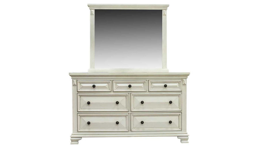 Imagen de Calloway II King Bed, Dresser, Mirror, Nightstand & Chest