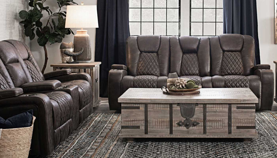 Picture of Grand Cayman Brown Sofa, Loveseat & Recliner