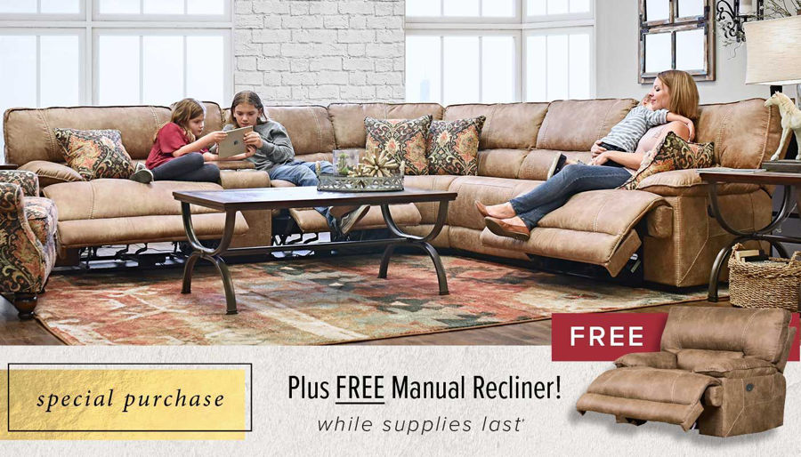 Picture of Kennedy Ripper Sectional & Manual Recliner