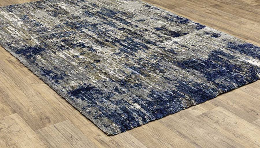 """Picture of Aspen Grey & Blue Rug 6'7""""x9'6"""""""