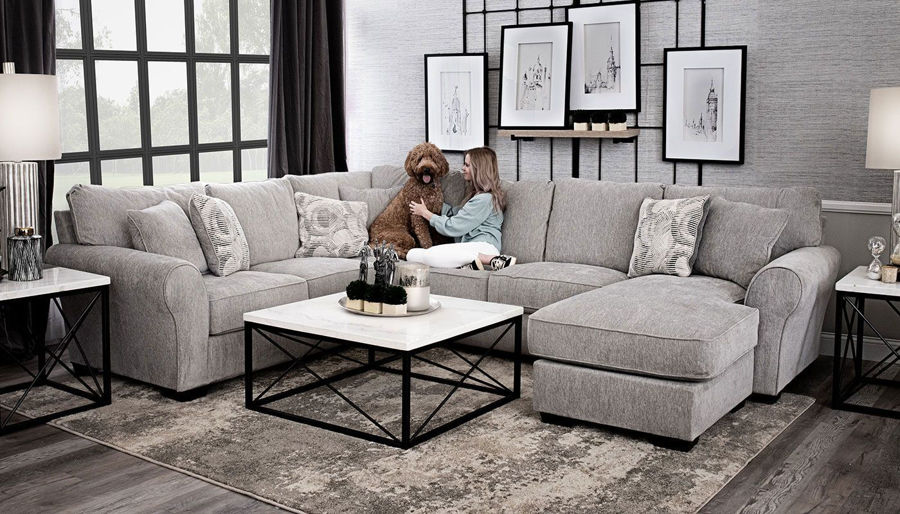 Picture of Demeter Sectional with Right Arm Facing Chaise