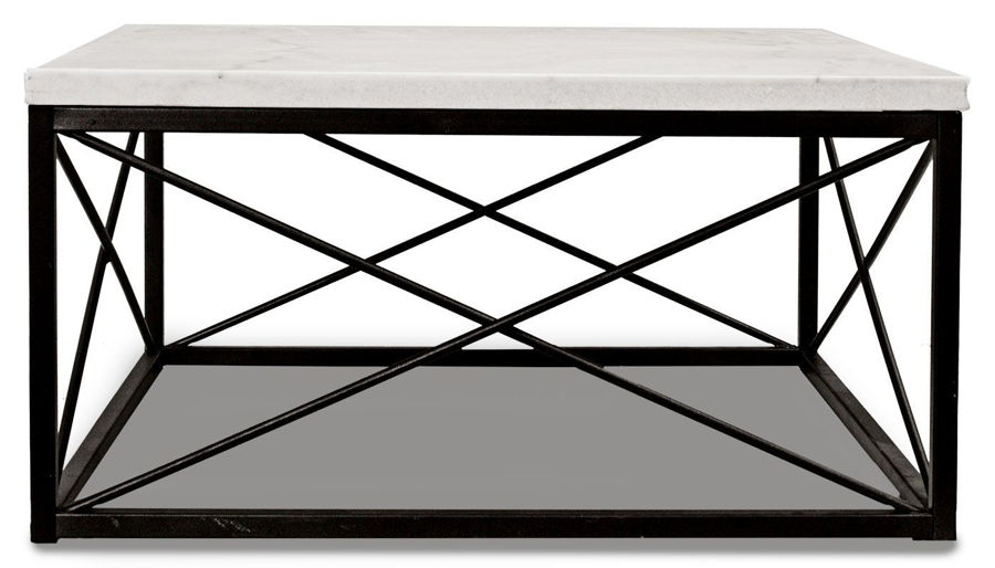 Imagen de Skyler White Marble Coffee Table