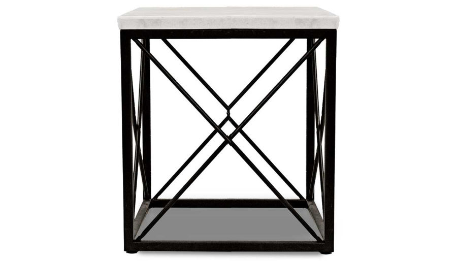 Imagen de Skyler White Marble End Table
