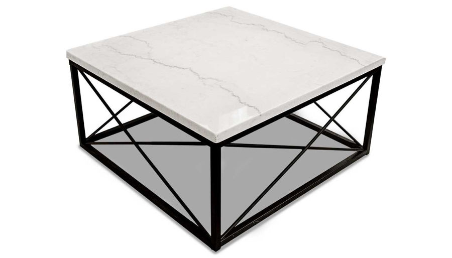 Imagen de Skyler White Marble 3 Piece Table Set