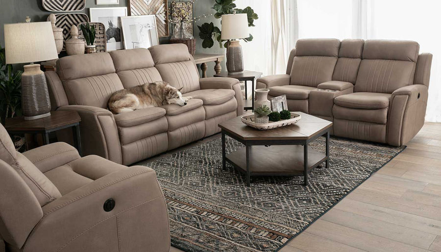 Picture of Georgia Power Sofa, Loveseat & Motion Recliner
