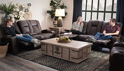 Grand Cayman Brown Sofa & Loveseat