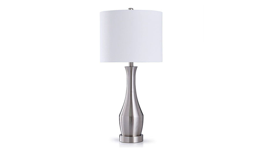 Picture of Brushed Steel Lamp Set of 2