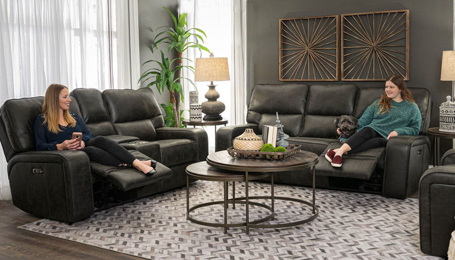 Picture of Brighton III Ebony Sofa & Loveseat